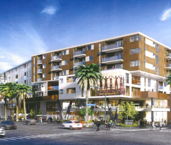 A rendering shows the District Square project in South Los Angeles, which officials planned to discuss on Sept. 17, 2019. (Credit: Los Angeles Department of City Planning via L.A. Times)