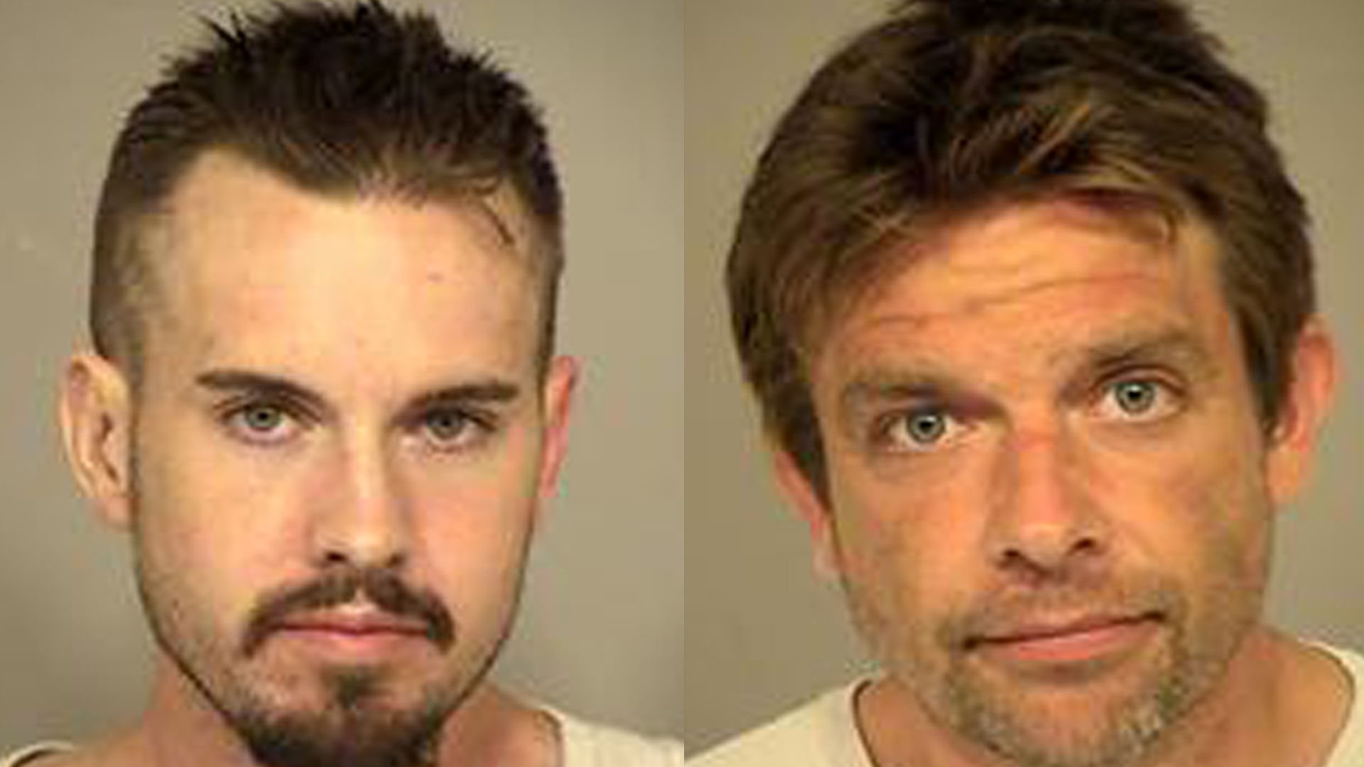 Patrick Budge and Evan Anderson, both of Ventura, are seen in photos released by the Ventura County Sheriff's Office on Sept. 24, 2019.