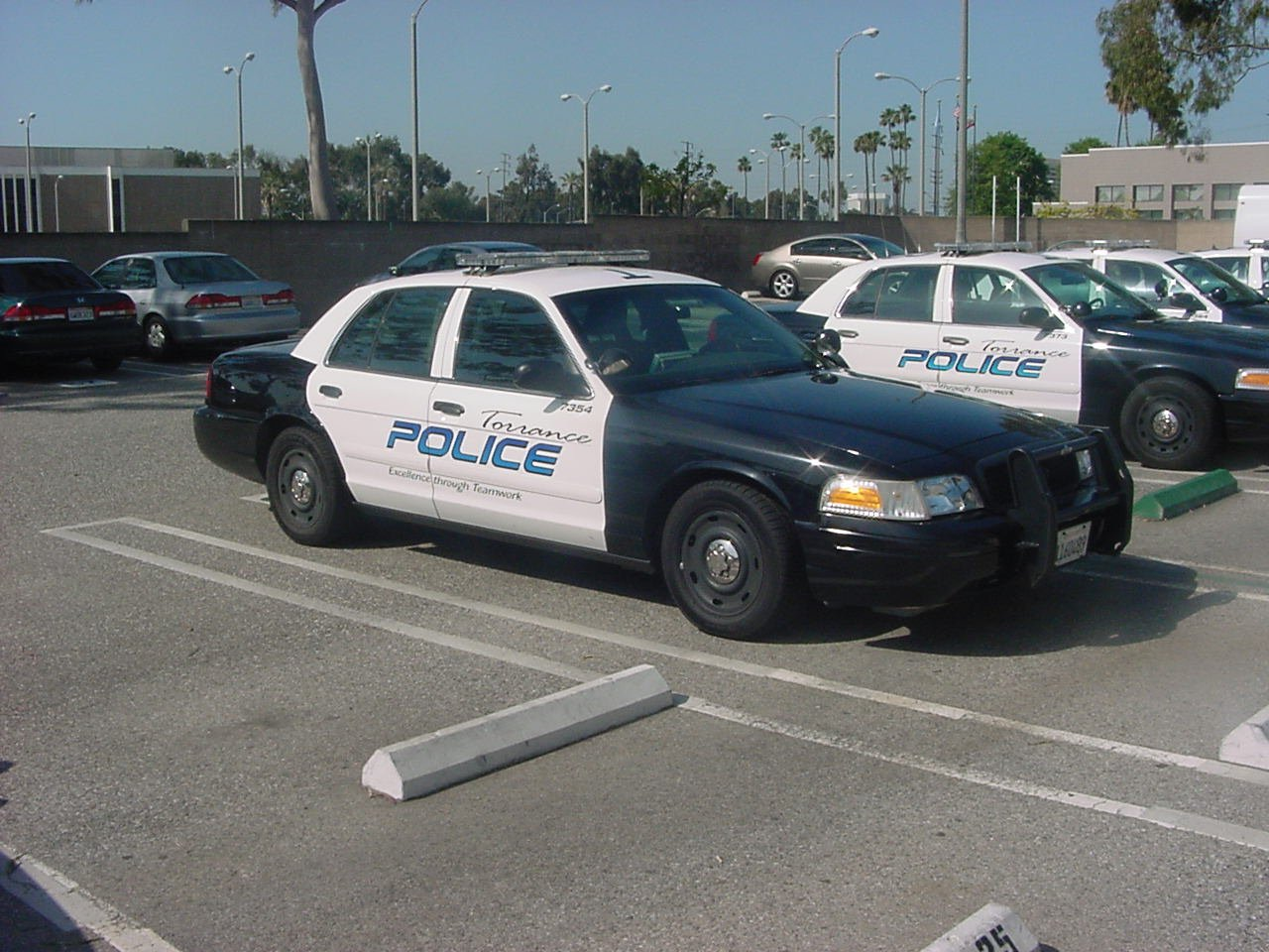 Torrance police vehicles appear in a photo posted on the agency's Facebook page in June 2014.
