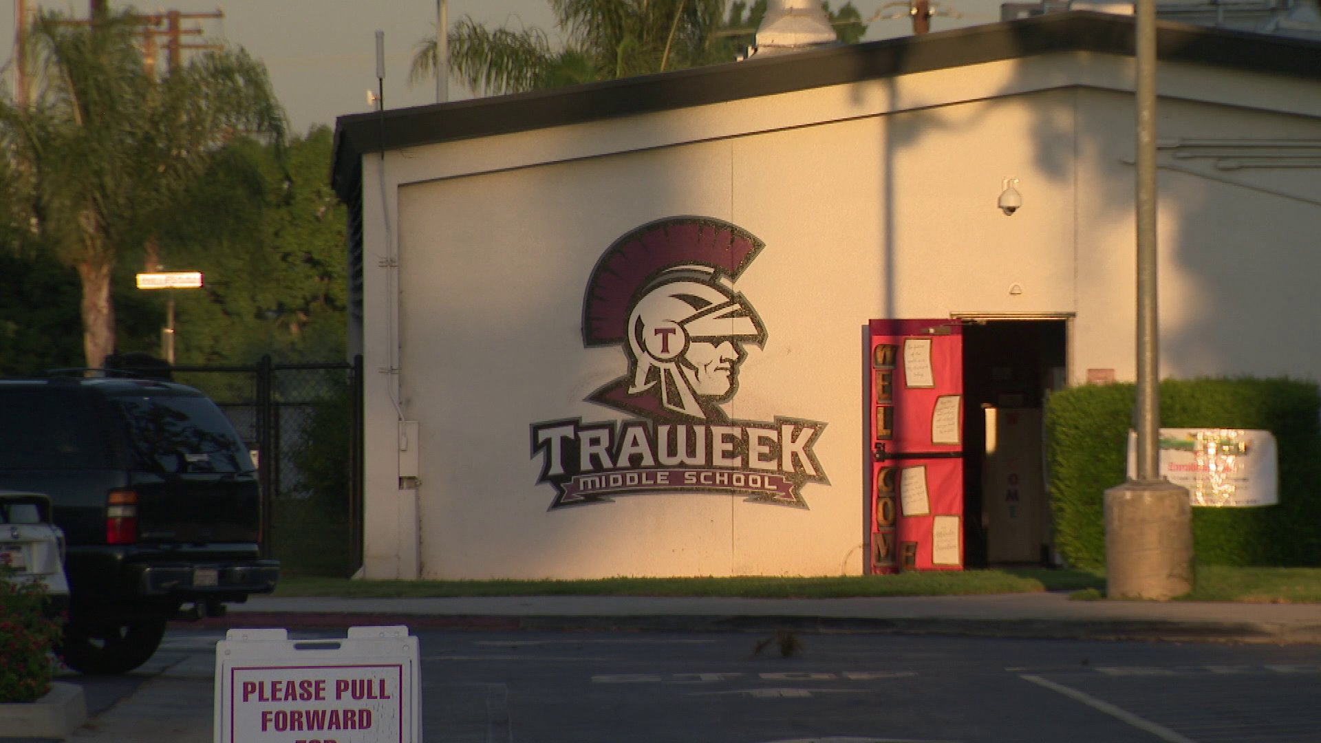 Traweek Middle School in West Covina is seen on Sep. 6, 2019. (Credit: KTLA)
