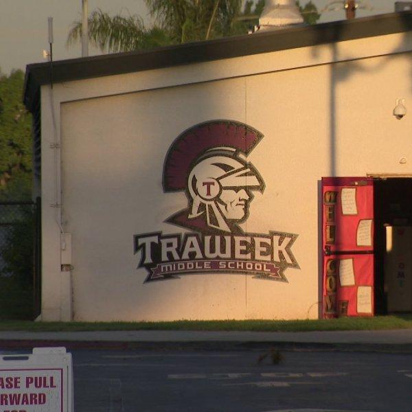 Traweek Middle School in West Covina is seen on Sep. 6, 2019. (Credit: KTLA)
