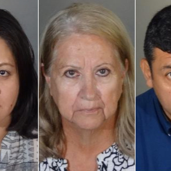 Luisa Camargo, Mercedes Montanez and Tito Lozada are seen in booking photos released by the Los Angeles Police Department on Sept. 27, 2019.