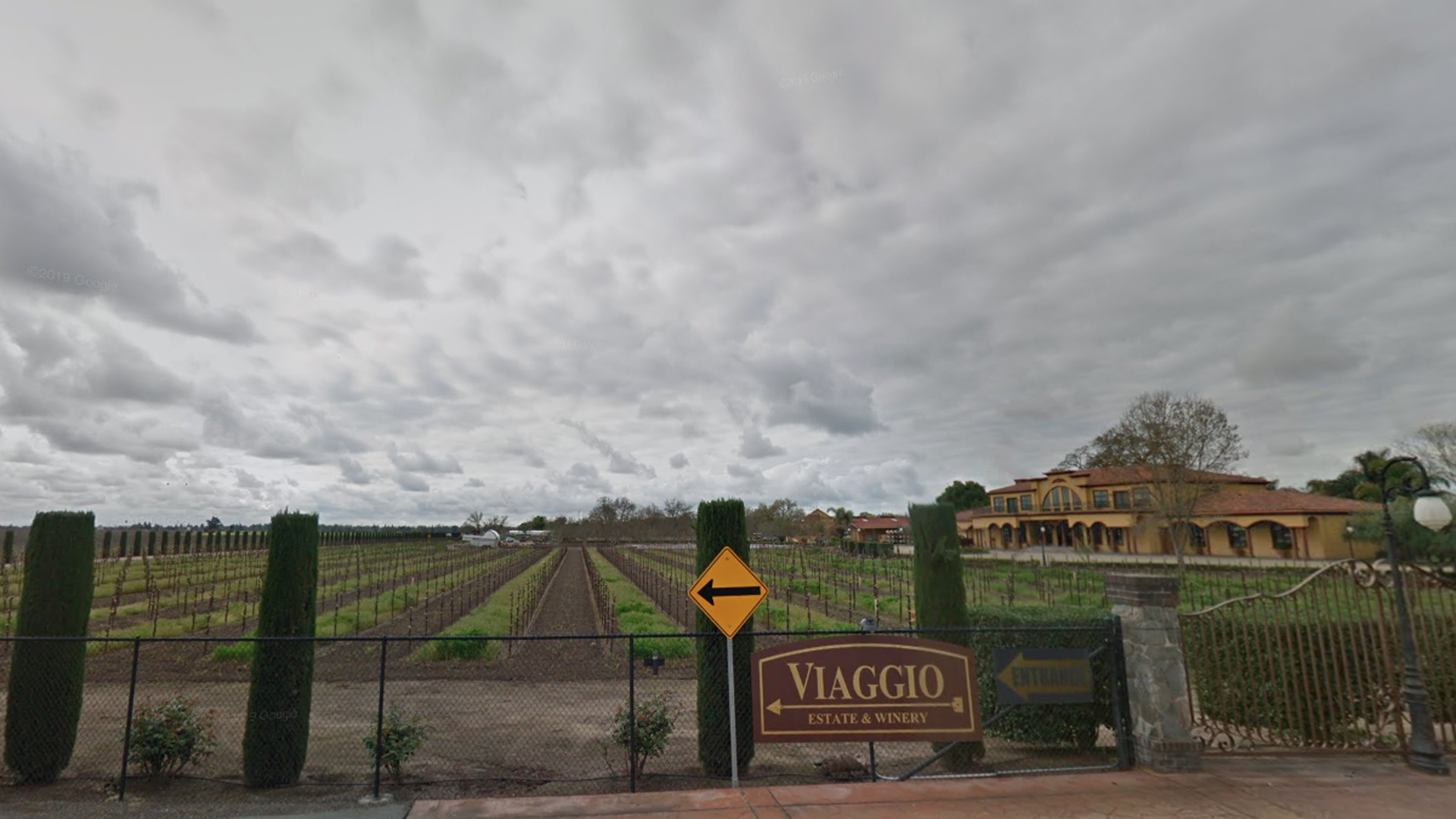 Viaggio Estate and Winery in Acamp, Calif. appears in an undated image from Google Maps.