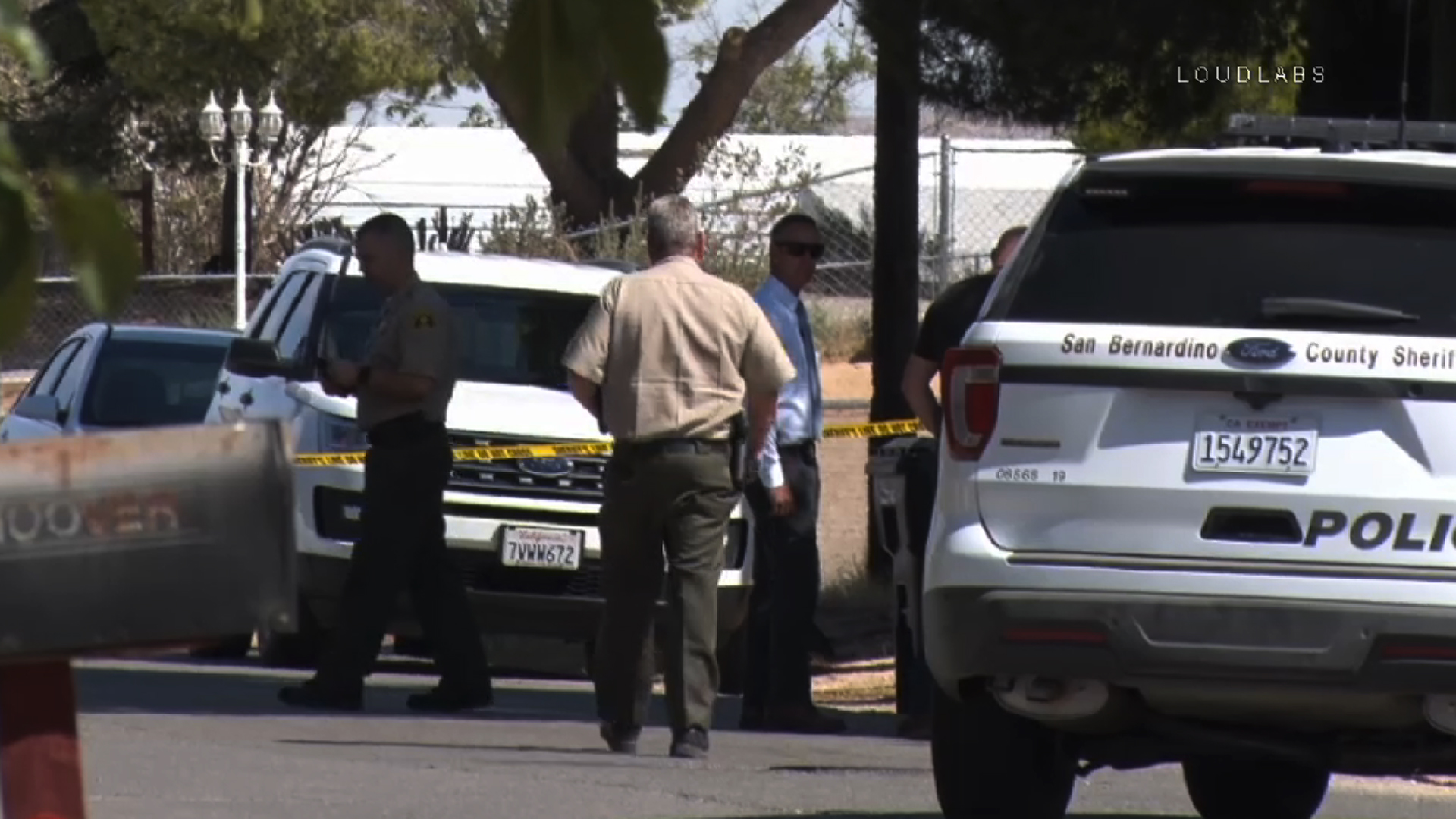 Officials respond after a man was fatally shot by deputies in Victorville on Sept. 4, 2019. (Credit: Loudlabs)