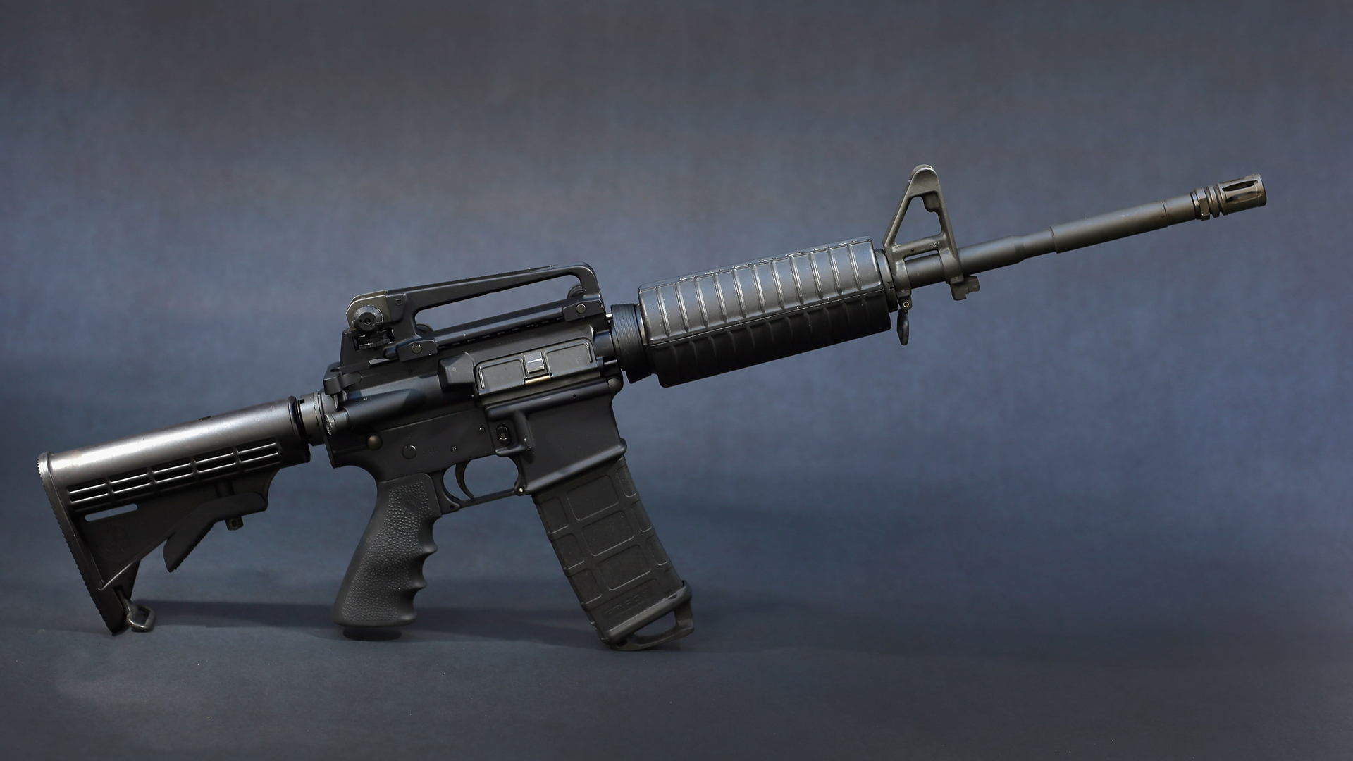 In this photo illustration a Rock River Arms AR-15 rifle is seen on December 18, 2012 in Miami, Florida. (Credit: Joe Raedle/Getty Images)