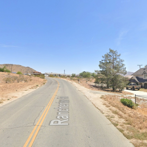 The 16000 block of Rancherias Road in Apple Valley, as viewed in a Google Street View image.