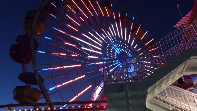 The Ferris wheel at the Santa Monica Pier.(Credit: Carolina A. Miranda/Los Angeles Times)