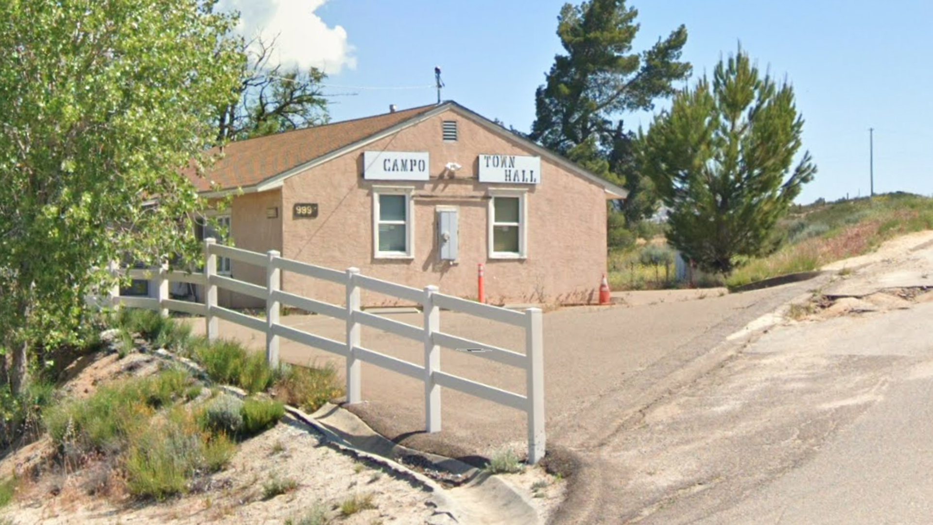 Campo Town Hall is seen in a Google Maps image.