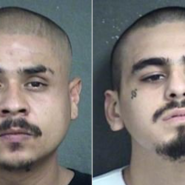 Hugo Villanueva-Morales (Left) and Javier Alatorre are seen in images provided by Kansas police.