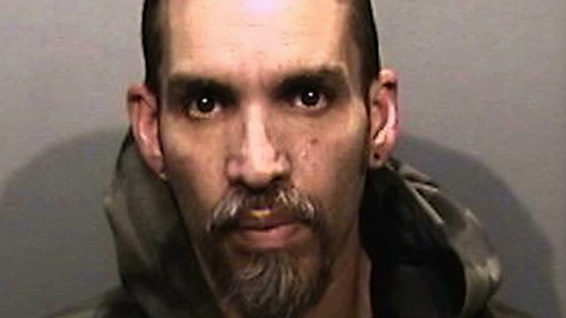 Derick Almena appears in a 2017 booking photo released by the Alameda County Sheriff's Office. (Credit: KGO via CNN)