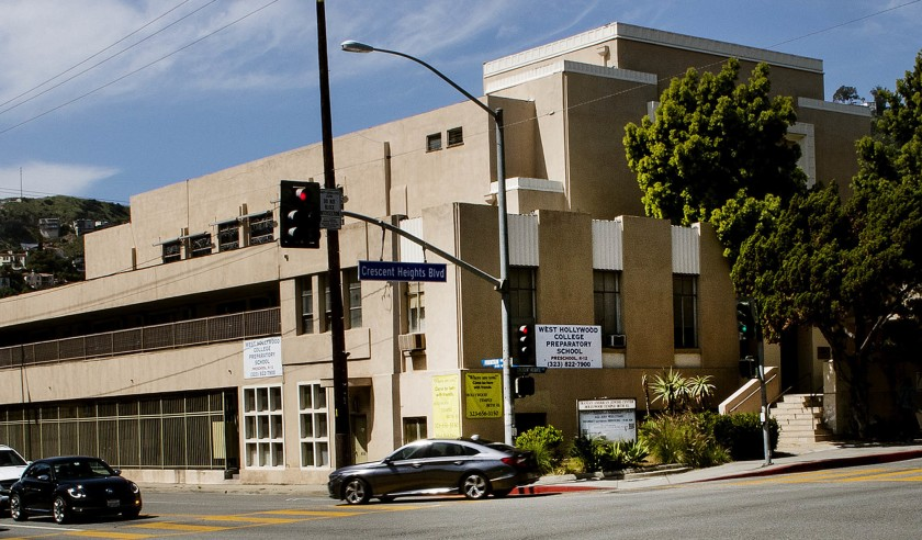 The West Hollywood College Preparatory School that allegedly housed one of the test centers involved in the college admissions scandal is seen in this undated photo.(Credit: Gina Ferazzi / Los Angeles Times)