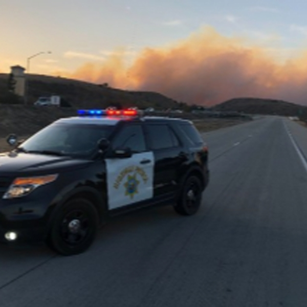 A portion of the 23 Freeway was closed due to the Easy Fire on Oct. 30, 2019. (Credit: California Highway Patrol)