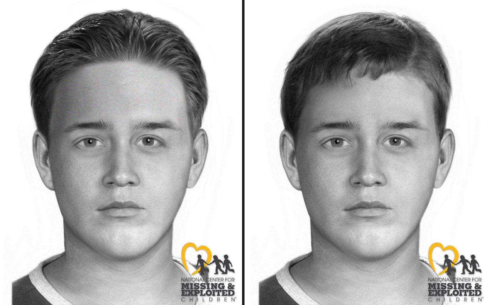 New sketches released Oct. 1, 2019, by the Orange County Sheriff's Department show what an unidentified male whose remains were found in Trabuco Canyon 1996 might have looked like when he died.