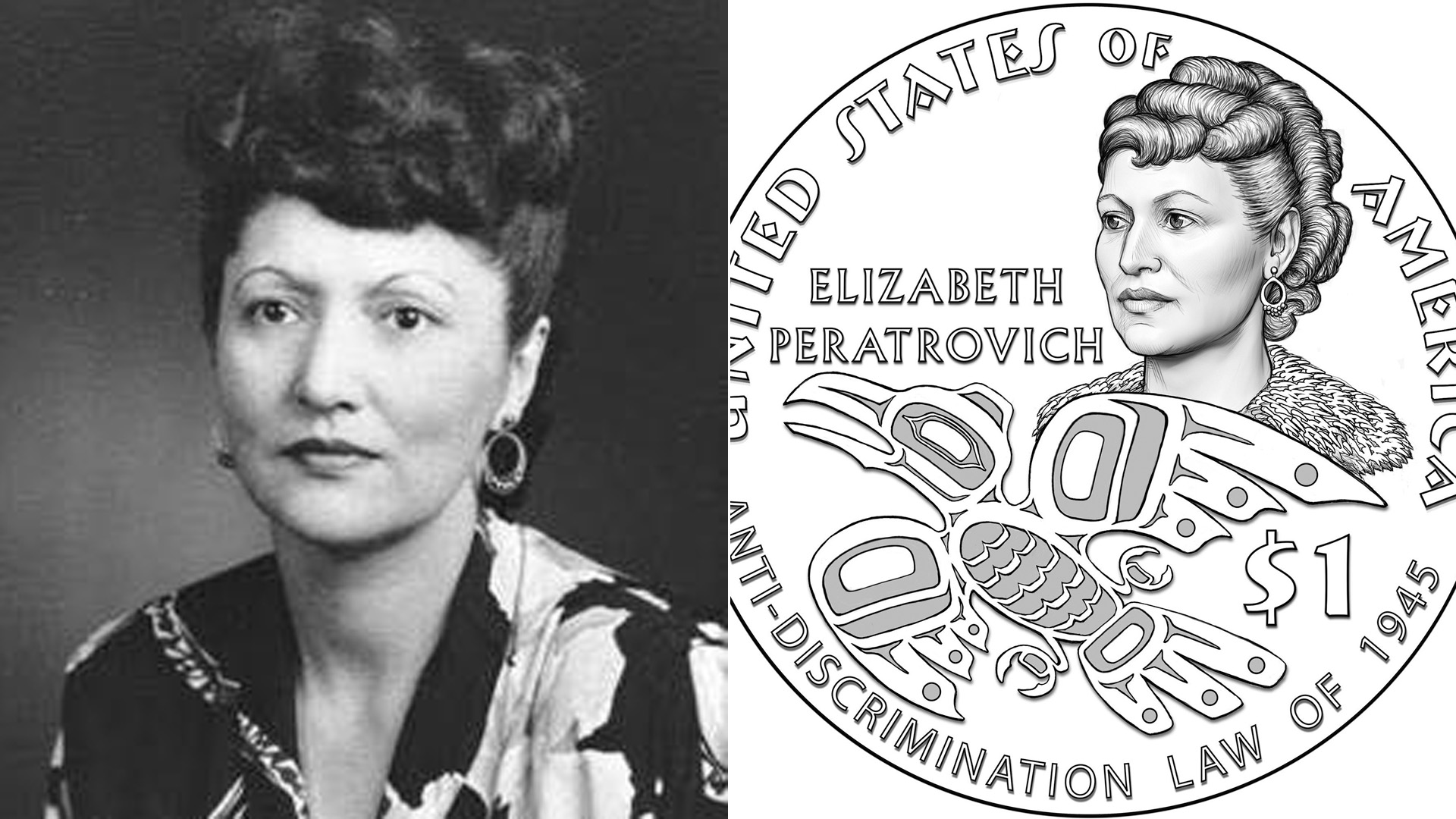 Elizabeth Peratrovich, Who Fought for America's Earliest  Anti-Discrimination Law, to Become 1st Alaska Native Featured on U.S.  Currency | KTLA