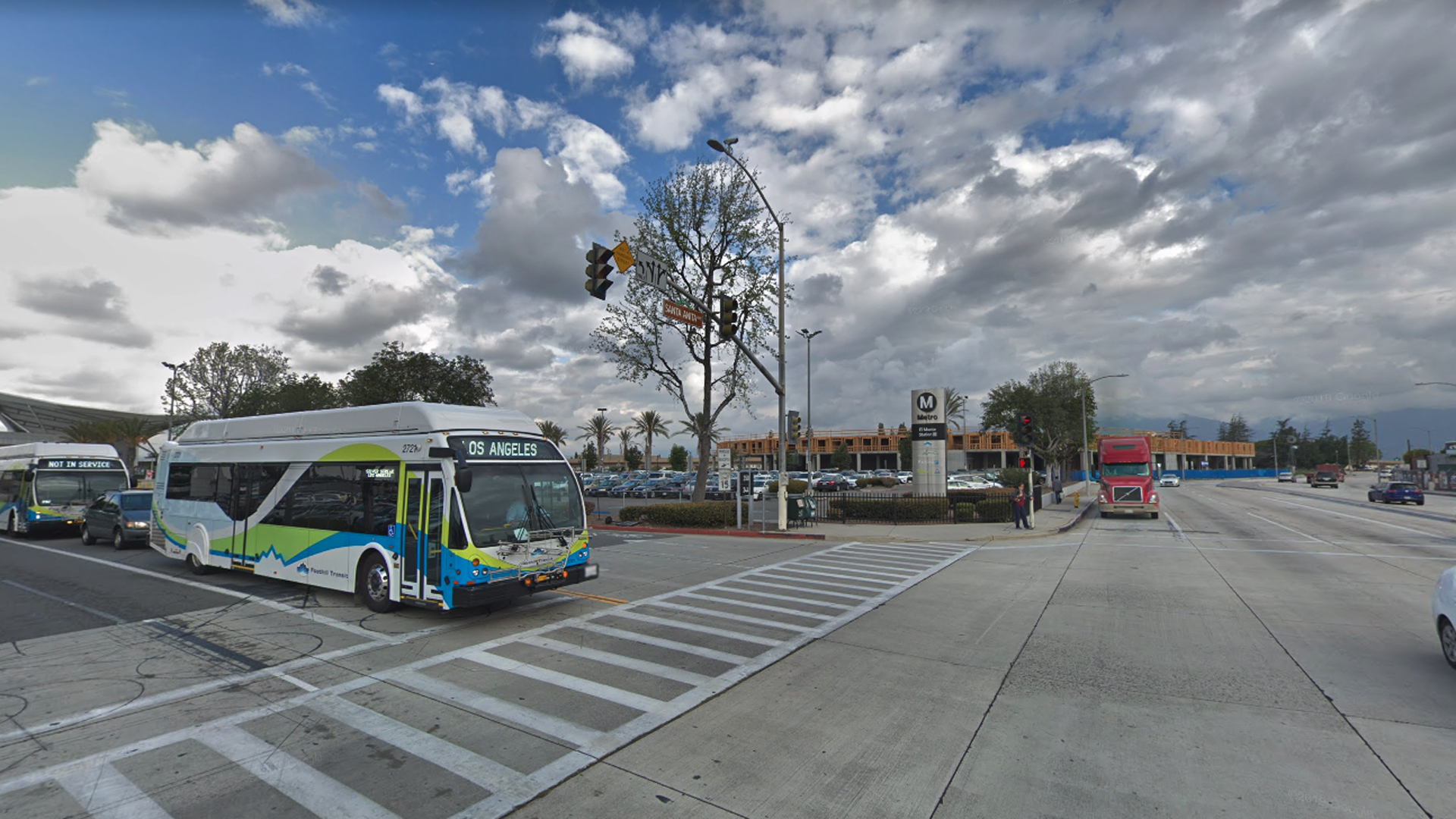 The LA Metro El Monte Station, as picture in a Google Street View image.