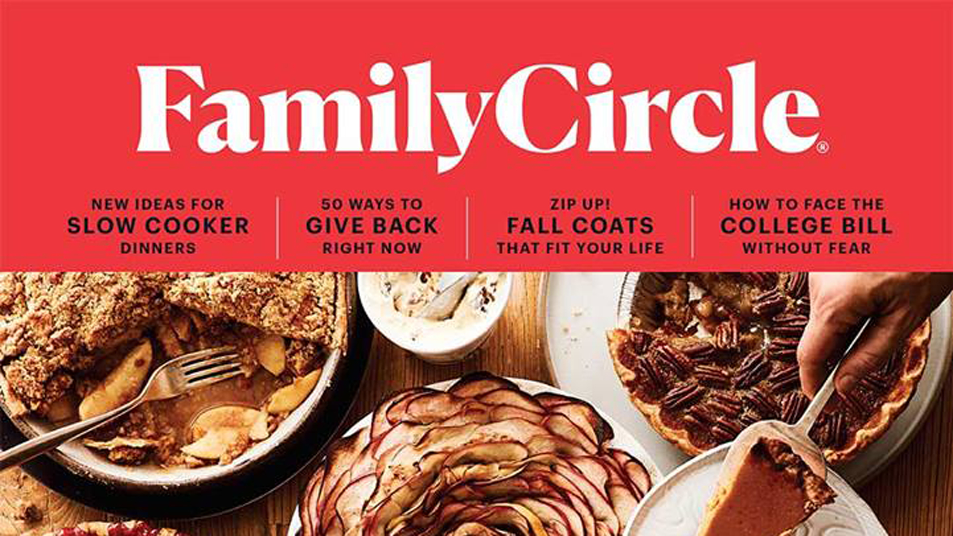 The cover of an issue of Family Circle appears in a photo posted on the magazine's Facebook page in October 2018.