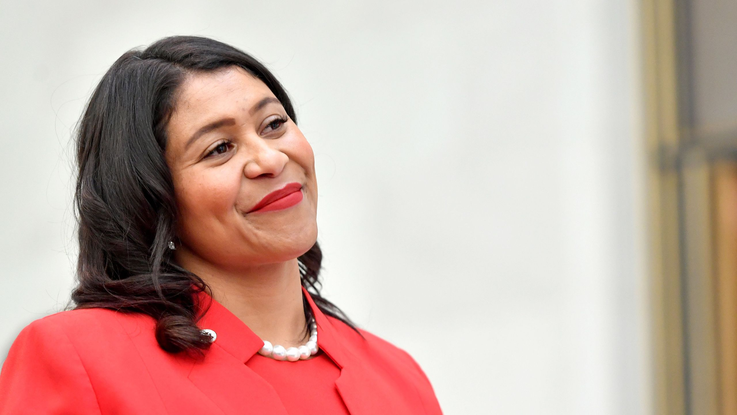 San Francisco Mayor London Breed appears at an event at San Francisco's City Hall on Sept. 12, 2018. (Credit: JOSH EDELSON/AFP/Getty Images)