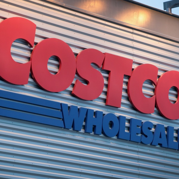A sign marks the location of a Costco store in Chicago, Illinois, on Dec. 12, 2018. (Credit: Scott Olson / Getty Images)