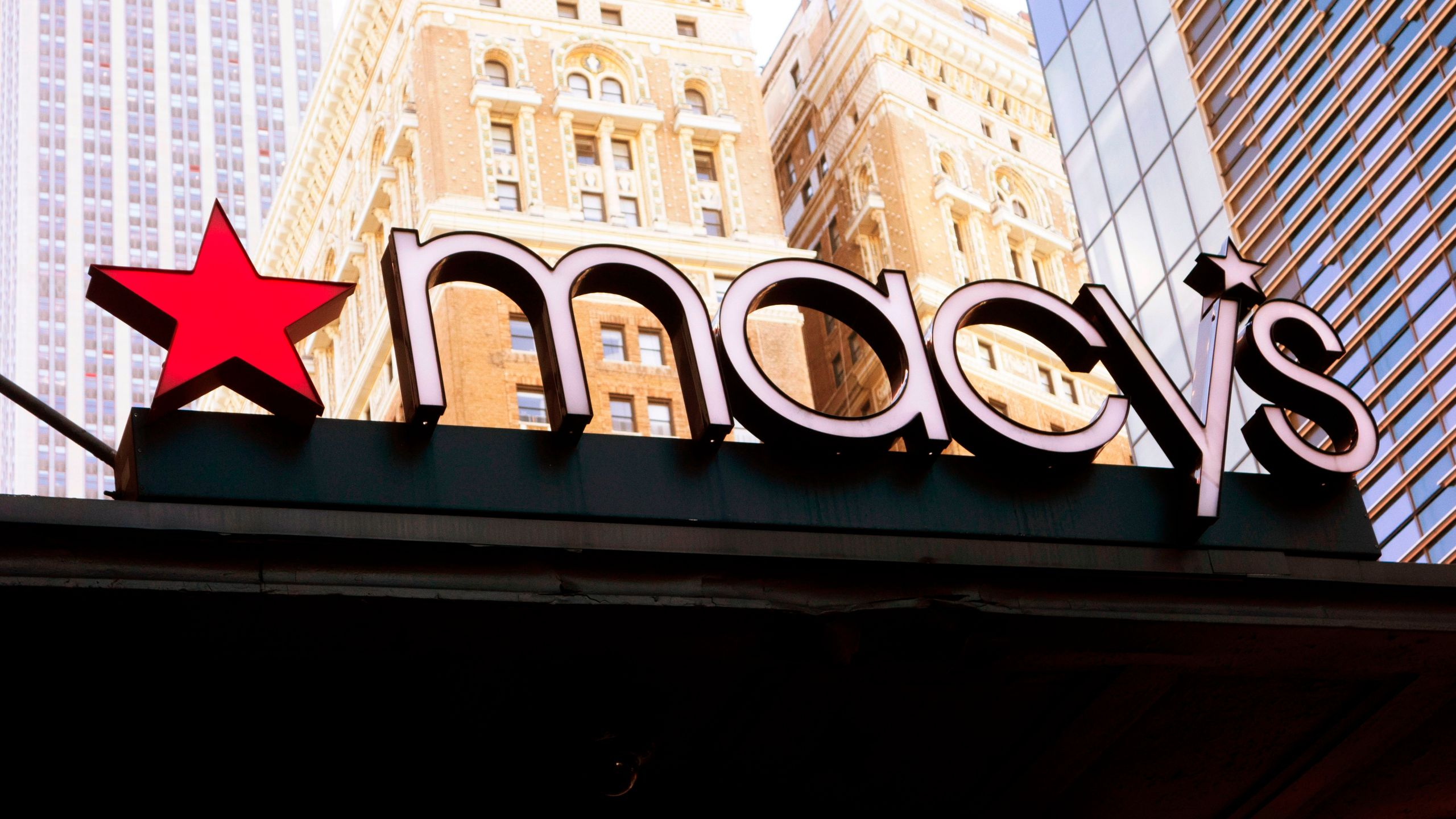 A store sign hangs on the Macy's store at Manhattan's Herald Square on Jan.11, 2019, in New York. (Credit: Don Emmert/AFP/Getty Images)