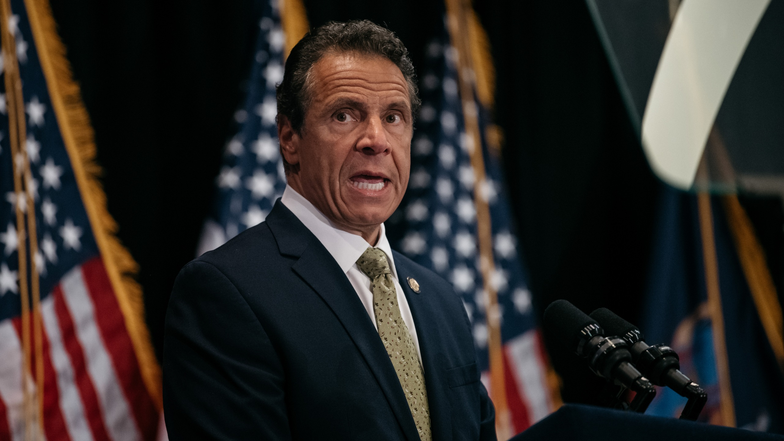 New York Gov. Andrew Cuomo delivers a speech at Fordham Law School in Manhattan on July 18, 2019 in New York City. (Credit: Scott Heins/Getty Images)