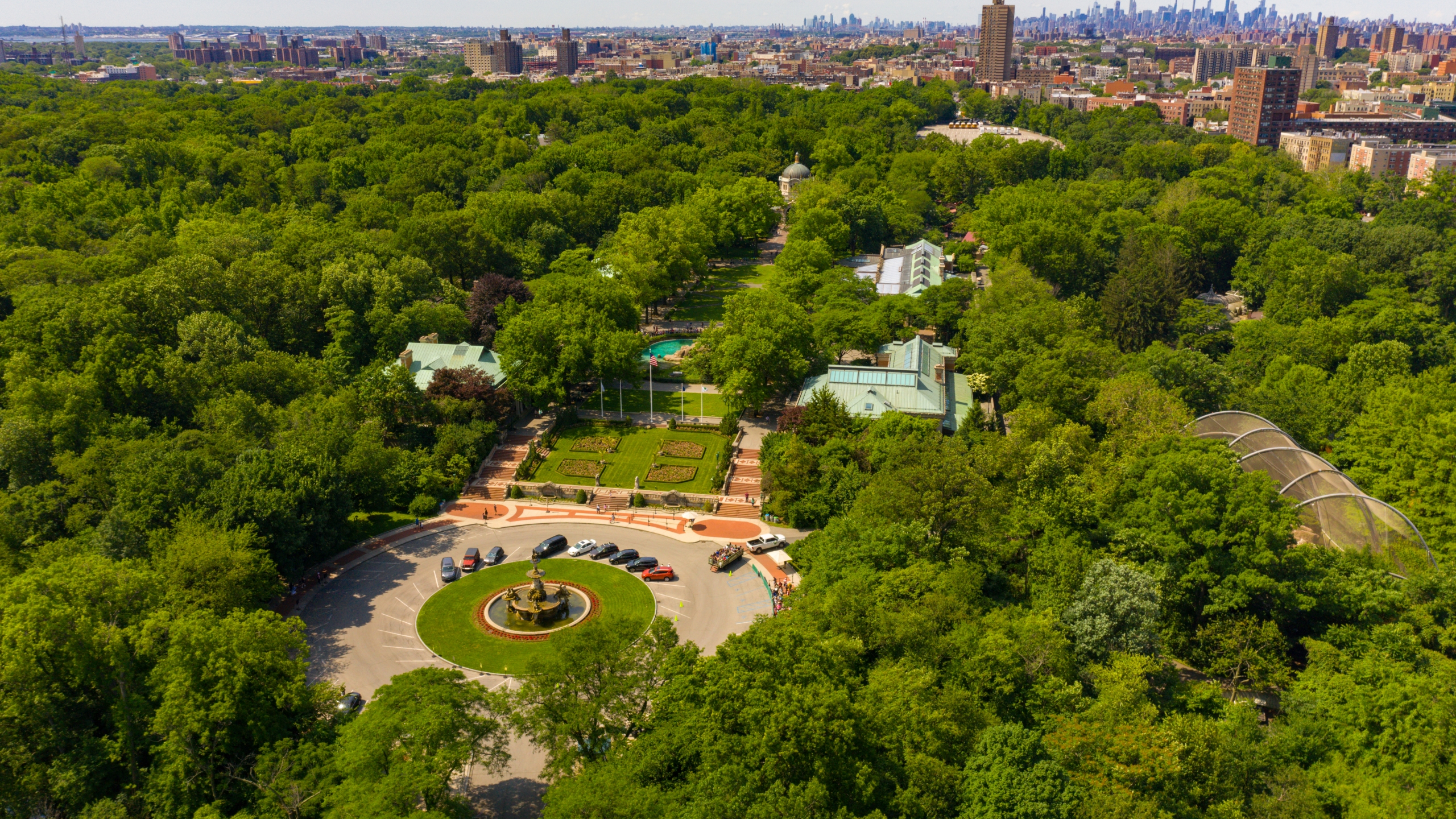 An aerial view of the Bronx Zoo in New York City is seen in an undated photo. (Credit: iStock / Getty Images Plus)