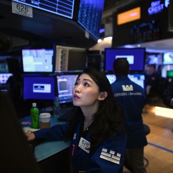 Traders work during the opening bell at the New York Stock Exchange on Oct. 2, 2019 at Wall Street in New York City. (Credit: JOHANNES EISELE/AFP via Getty Images)