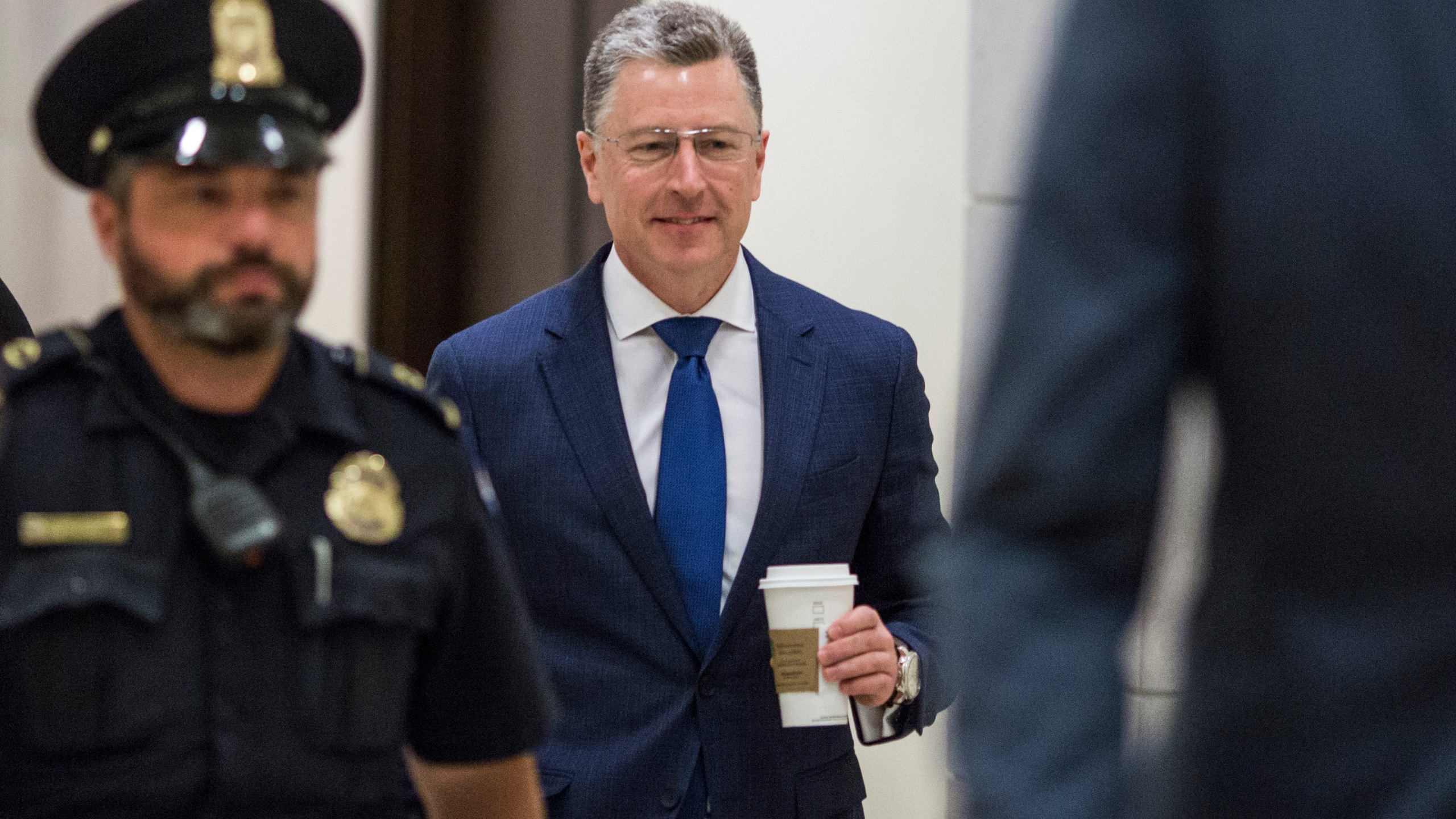 Former Special Envoy to Ukraine Kurt Volker arrives on Capitol Hill before a closed-door deposition led by the House Intelligence Committee on October 3, 2019 in Washington, DC. (Credit: Zach Gibson/Getty Images)