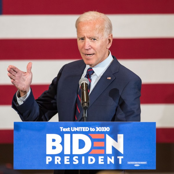 Democratic presidential candidate, former Vice President Joe Biden, speaks during a campaign event on Oct. 9, 2019, in Manchester, New Hamp. (Credit: Scott Eisen/Getty Images)