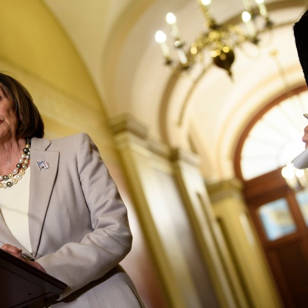 U.S. Speaker of the House Nancy Pelosi speaks before a meeting on Capitol Hill on Oct. 17, 2019, in Washington, D.C. (Credit: BRENDAN SMIALOWSKI/AFP via Getty Images)