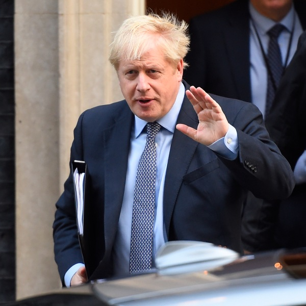 Prime Minister Boris Johnson leaves Downing Street for the House of Commons on Oct. 19, 2019 in London. (Credit: Peter Summers/Getty Images)