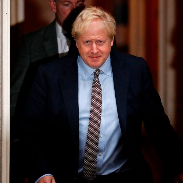 Britain's Prime Minister Boris Johnson leaves 10 Downing Street, central London on Oct. 24, 2019. (Credit: ADRIAN DENNIS/AFP via Getty Images)