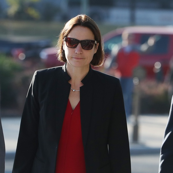 Fiona Hill, former senior director for European and Russian affairs on the National Security Council, arrives on Capitol Hill for a hearing at the U.S. Capitol Oct. 11, 2019 in Washington, D.C. (Credit: Mark Wilson/Getty Images)