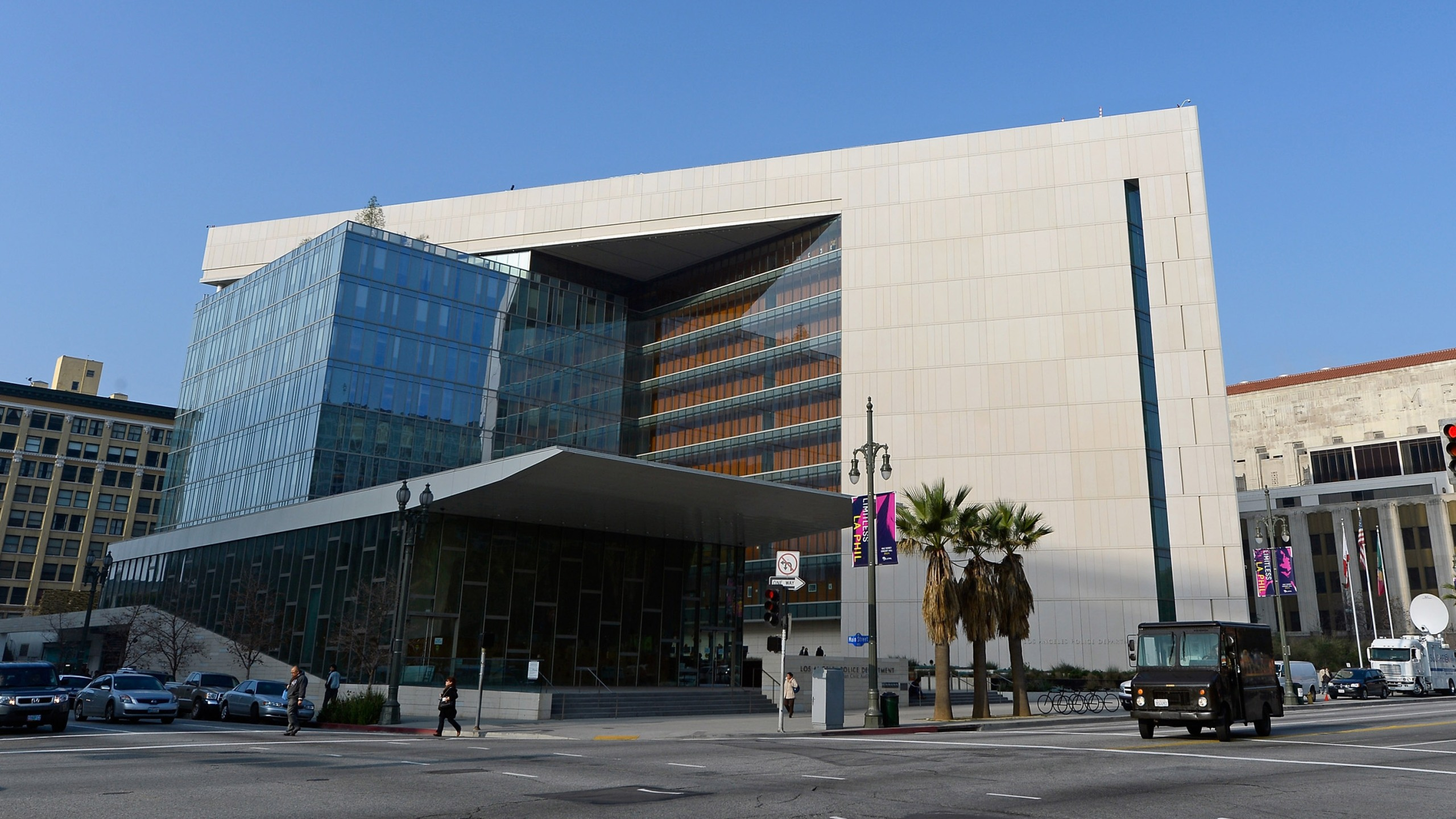 Los Angeles Police Department headquarters is seen in a photo from Feb. 7, 2013. (Credit: Kevork Djansezian/Getty Images)