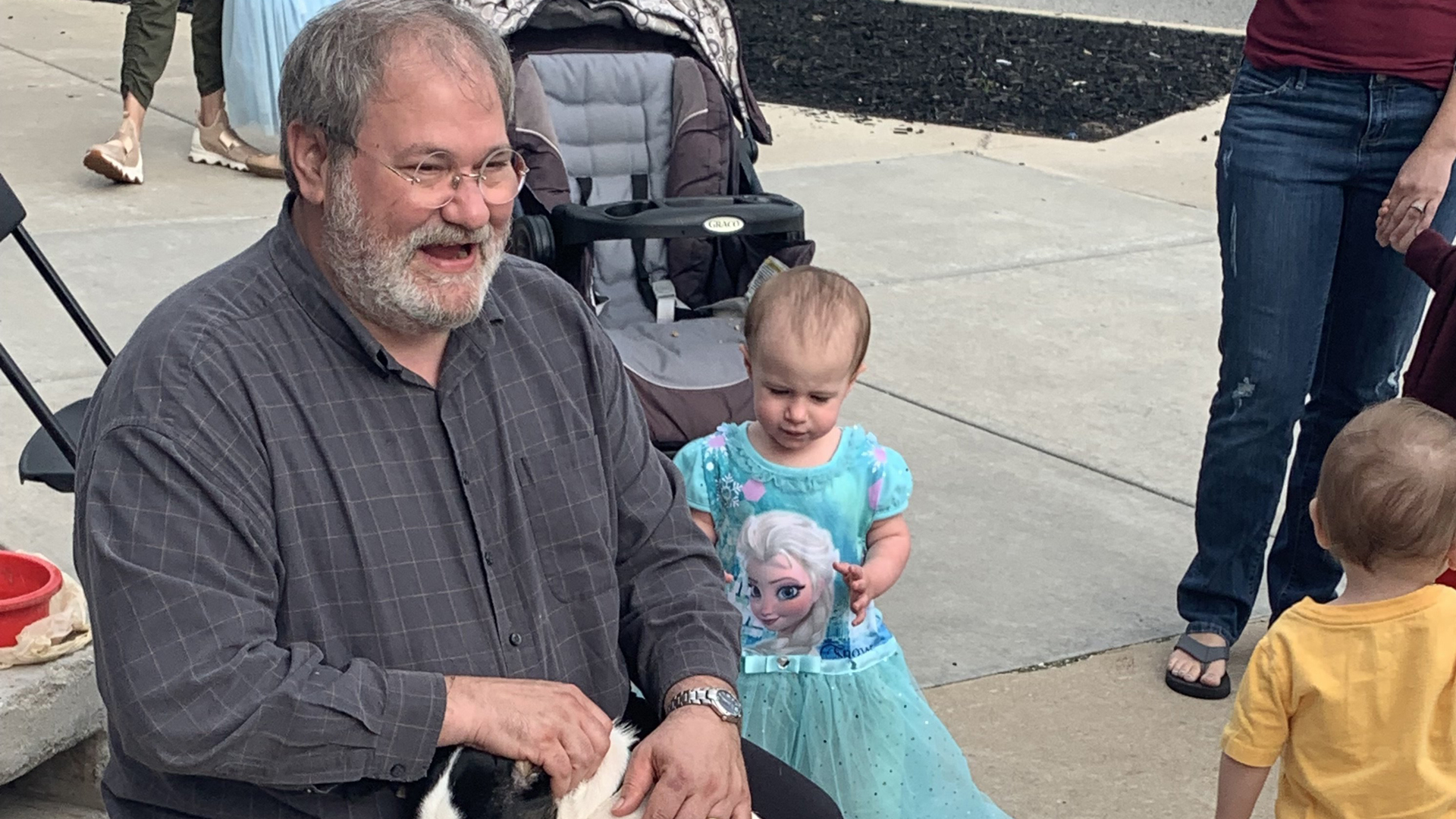 Sal Anello and his dranddaughter Chloe are seen in a photo released by the Wiegand Family and distributed by CNN.