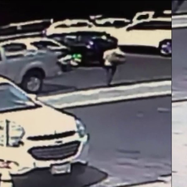 A woman was struck by a hit-and-run driver in West Covina on Sept. 22, 2019. (Credit: Aida Araceli Mayorga)