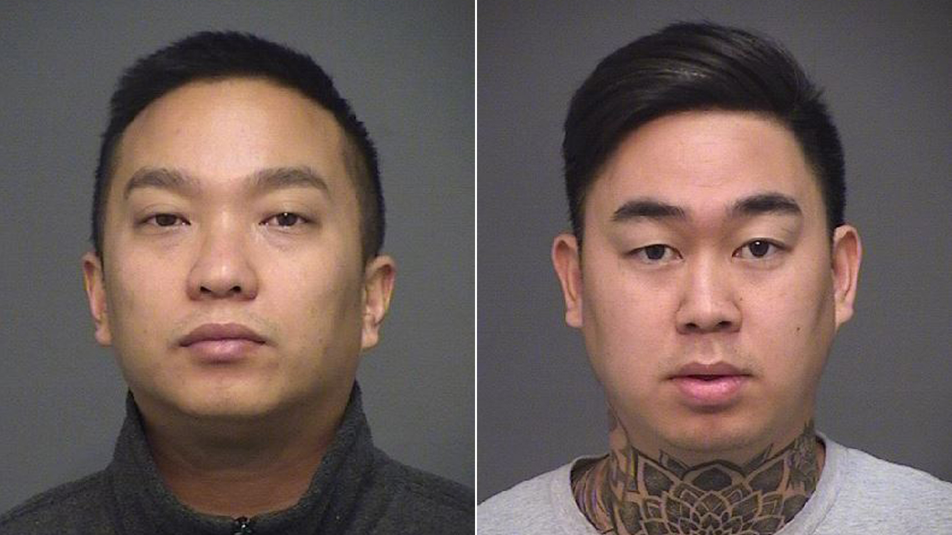 Dennis Dang, 29, of Westminster (left) and Casey Ngo, 31, of Midway City, pictured in photos released by the Huntington Beach Police Department on Oct. 23, 2019.