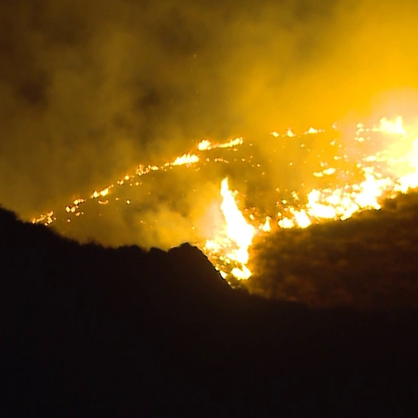 The Diamond Fire broke out the Hemet area on Oct. 21, 2019. (Credit: RMG News)