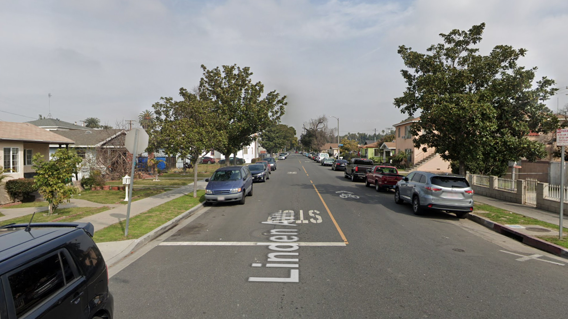 The 6000 block of Linden Avenue in Long Beach, as viewed in a Google Street View image.