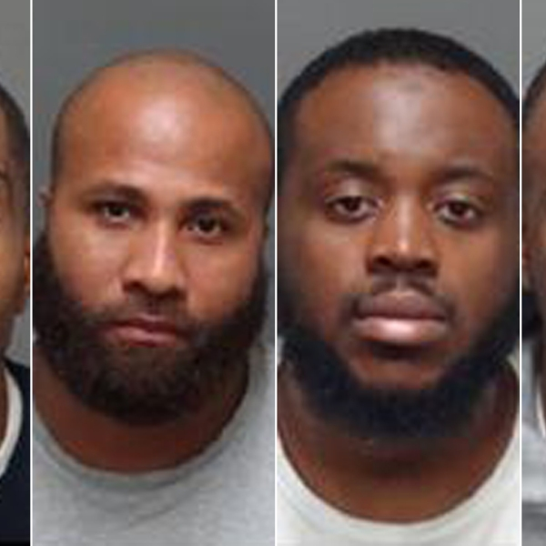 Kedrick Daniels, Kevin Green, Frank Tisby and William Robinson appear in booking photos released by the Los Angeles Sheriff's Department on Oct. 8, 2019.