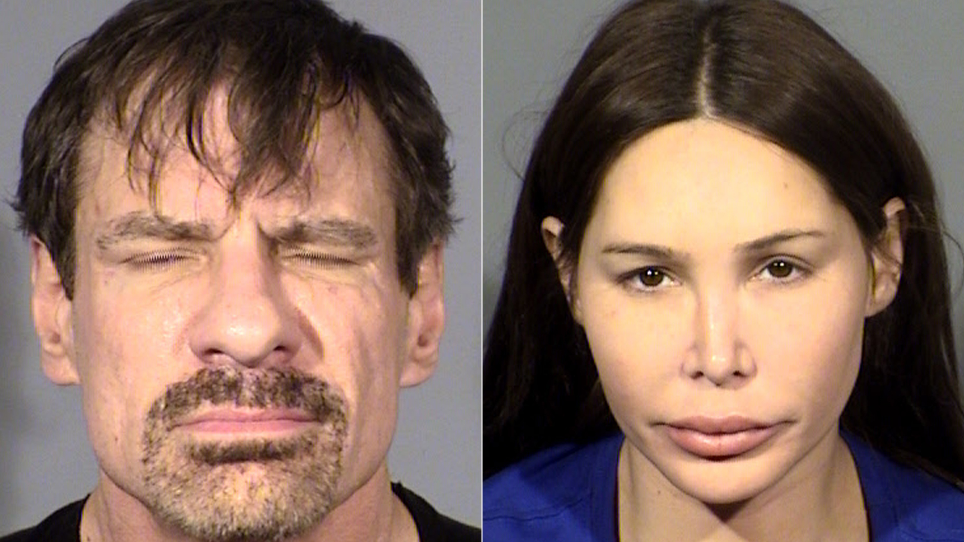 Henry Nicholas and Ashley Fargo are seen in photos provided by the Las Vegas Metropolitan Police Department.
