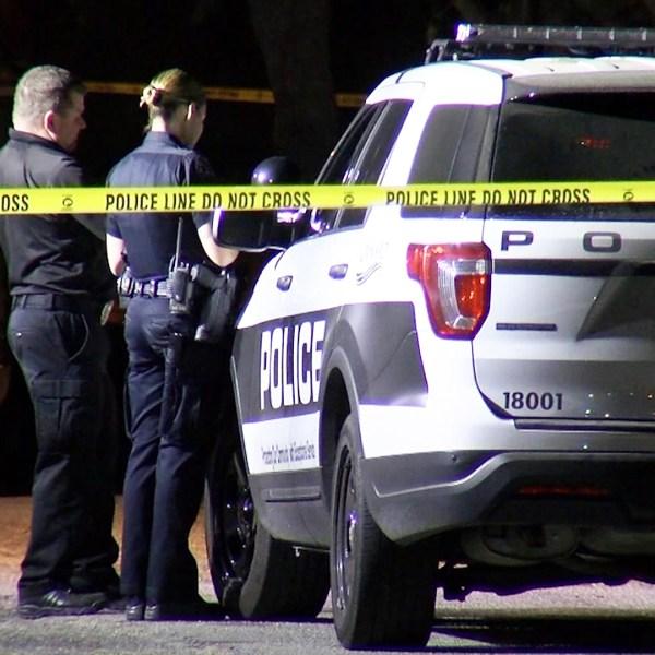 Police investigate a fatal stabbing in Oxnard on Oct. 21, 2019. (Credit: OnScene.TV)