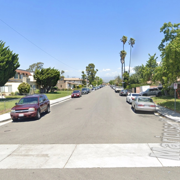 The 2000 block of Mariposa Street in Oxnard, as viewed in a Google Street View image.