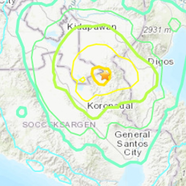 A strong and shallow earthquake struck the southern Philippines. (Credit: USGS)