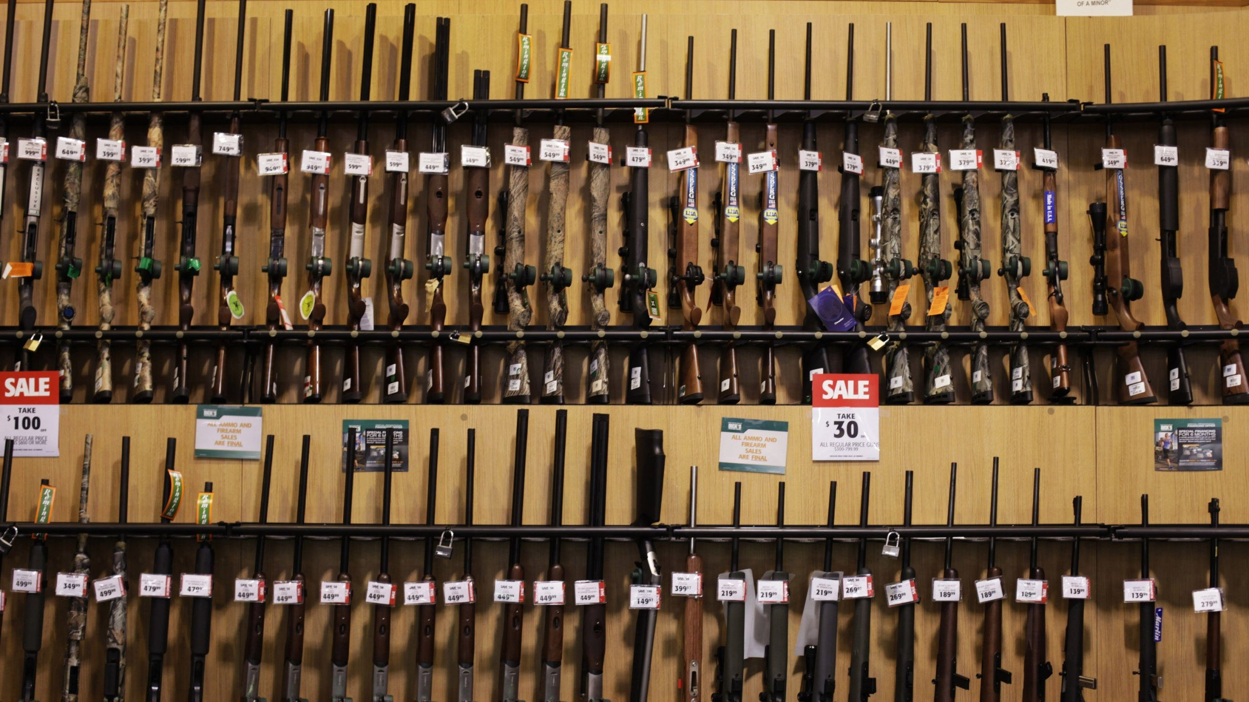 Dick's Sporting Goods has destroyed $5 million of the chain's gun inventory, its CEO said. (Credit: Victor J Blue/Bloomberg/Getty via CNN)