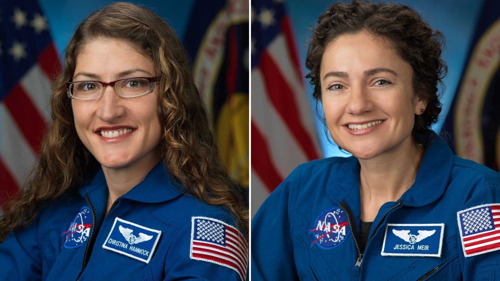NASA astronauts Jessica Meir and Christina Koch will conduct the first all-female spacewalk outside of the International Space Station. (Credit: NASA)