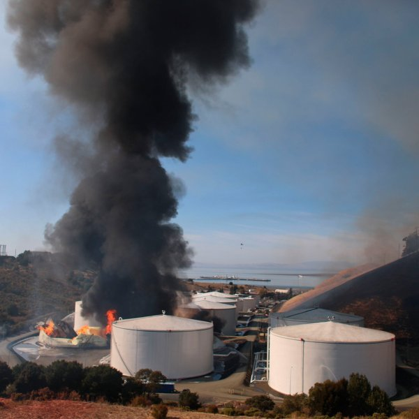 California, home to periodic earthquakes, is also home to 15 operating oil refineries, according to the US Energy Information Administration. (Credit: Anda Chu/AP)