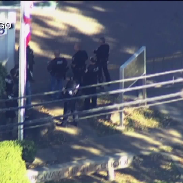 Police responded to Ridgeway High School in Santa Rosa after a shooting on Oct. 22, 2019. (Credit: KGO)