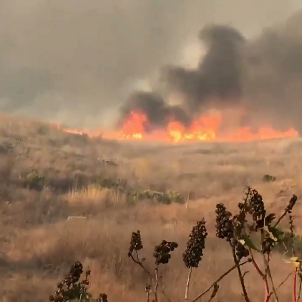 The Real Fire burned in Southern Santa Barbara County on Oct. 17, 2019. (Credit: Santa Barbara County Fire Department)