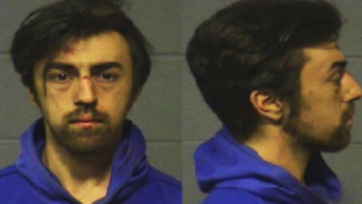 Jake Wascher is seen in undated booking photos. (Credit: Hartford Police Department via Tribune Media Wire)