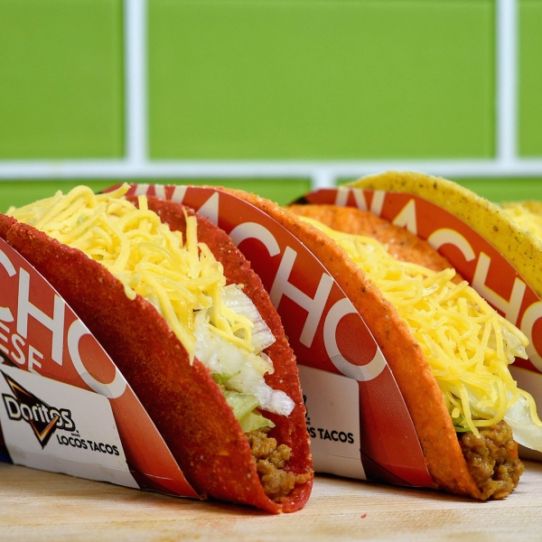 The Taco Bell's Doritos Locos Tacos are seen in this undated photo. (Credit: Joshua Blanchard / Getty Images for Taco Bell)